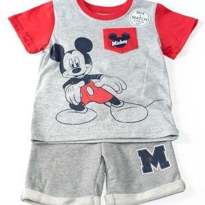 Disney 4 Piece Toddler Boy Short Sets